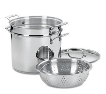 Cuisinart Chef's Classic Stainless 4-Piece Pasta-Steamer Set - K129861