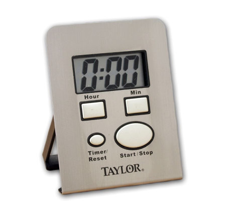 Taylor 5851 Stainless Steel Timer w/ Clock