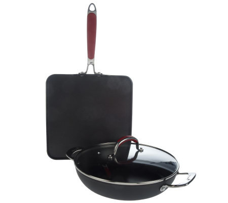 David Burke Hard Anodized Nonstick 3-pc. Cookware Set