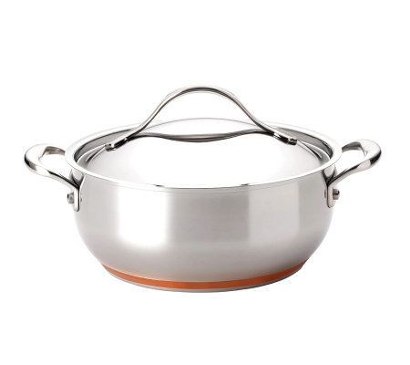 Anolon Nouvelle Stainless 4-qt Covered Chef Casserole