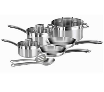 T-Fal C878SA74 Elegance 10-Piece Stainless Steel Cookware Set - K299661