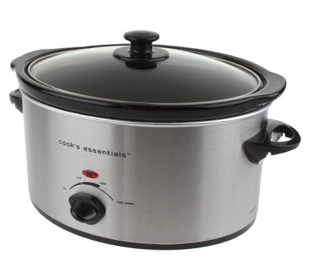 CooksEssentials 4 qt Oval Slow Cooker w/ Travel Bag