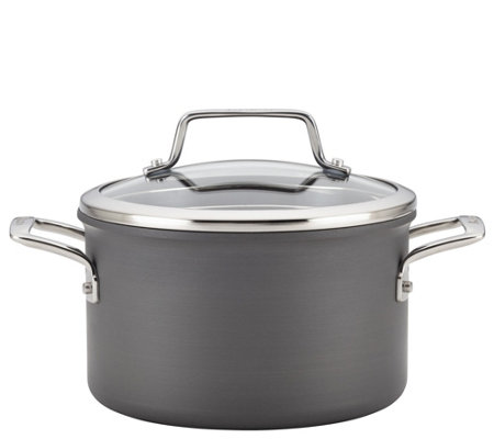 Anolon Authority Hard-Anodized 4-qt Covered Saucepot