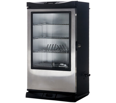 "Masterbuilt_40"" 4-Rack Digital Electric Smoker with Cover & Rib Rack"