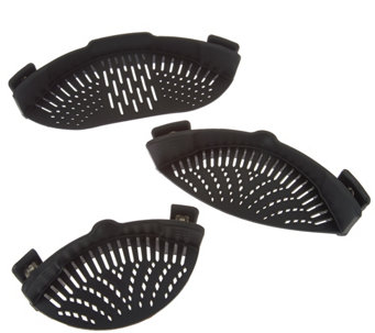 Set of 3 Silicone Pot and Pan Strainers - K44061