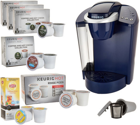 Keurig K55 Coffee Maker w/ My K-Cup, 31 K-Cup Pods & Water Filters