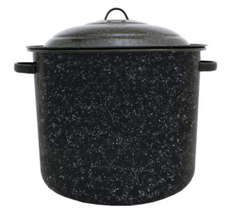 21-qt Porcelain-on-Steel Stockpot with Lid - K129962