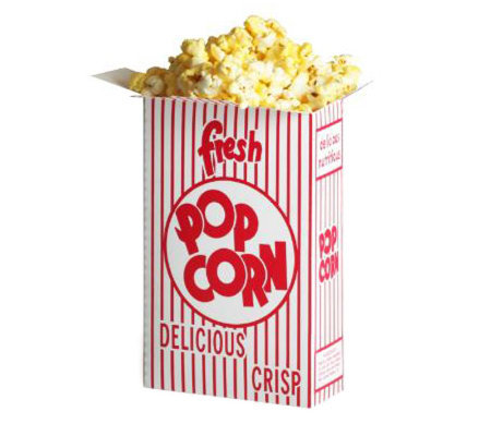 (50) 1.25 oz Movie Theater Popcorn Boxes