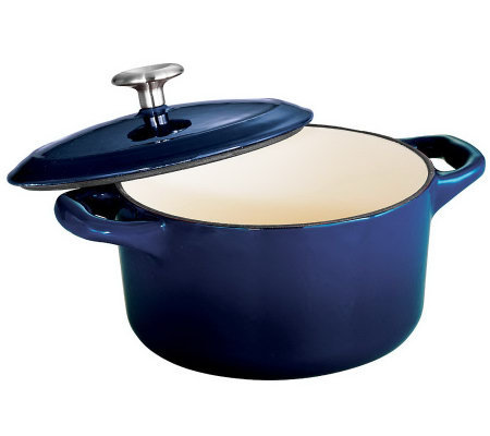 Tramontina Gourmet Enameled Cast-Iron 24-oz Covered Cocotte