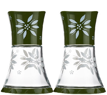 Temp-tations Old World Set of 2 Etched Grinders - K41362