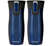 Contigo Set of 2 16oz. West Loop Thermal Mugs - K43362