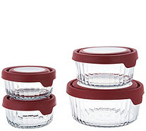 Anchor Hocking 4pc. Embossed Glass Storage Set w/ True Seal - K45562