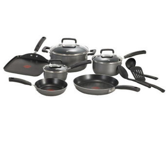 T-Fal Signature Total Nonstick 12-Piece Cookware Set - Black - K299663