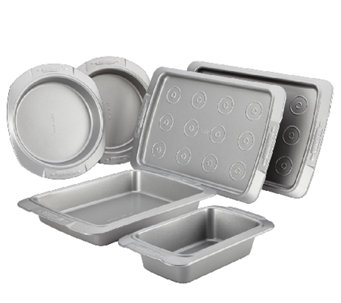 Cake Boss Deluxe 6-Piece Nonstick Bakeware Set- Gray - K303063