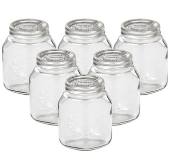 Leifheit 34-oz Glass Wide-Mouth Mason Canning Jar - K305463