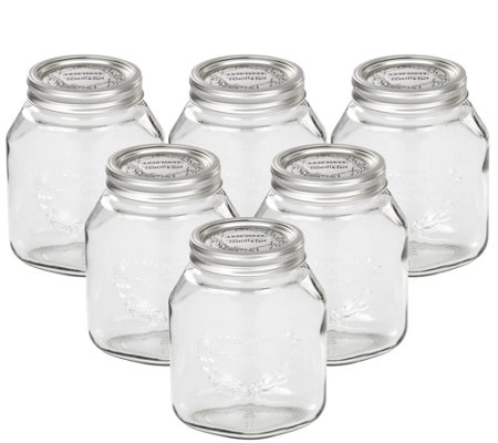 Leifheit 34-oz Glass Wide-Mouth Mason Canning Jar