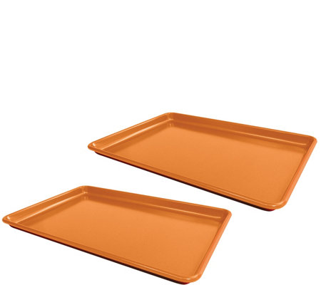 Red Copper Set of 2 Cookie Sheets