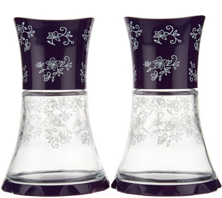 Temp-tations Floral Lace Set of 2 Glass Grinders