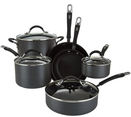 Cook's Essentials 10-piece Hard Anodized Cookware Set