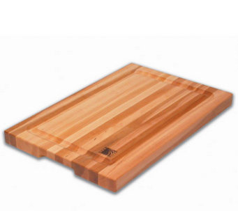 "Solid Edge Grain Maple 12"" x 18"" x 1-1/4"" Cutting Board - K129964"