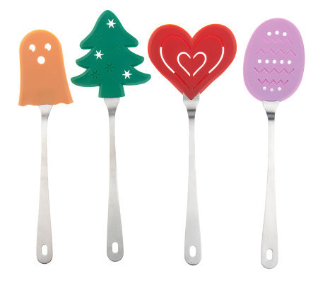 Set Of 4 Holiday Themed Spatulas With Nylon Heads Page 1