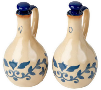 LidiaBastianich Hand Painted 2-pc. Stoneware Oil & Vinegar Set - K35364