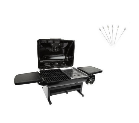 Cuisinart 240 Sq. In. Gas Grill With Grill Platter U0026 S/6 Skewers