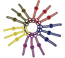Set of 15 Seal Tight Reusable Food Bag Pull Ties - K44464