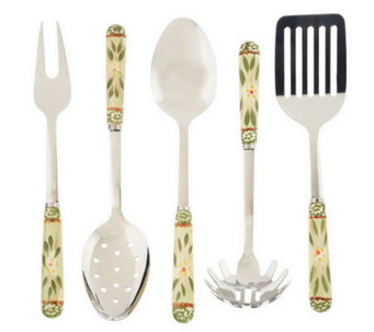 Temp-tations Old World 5-piece Stainless Steel Utensil Set - K28265