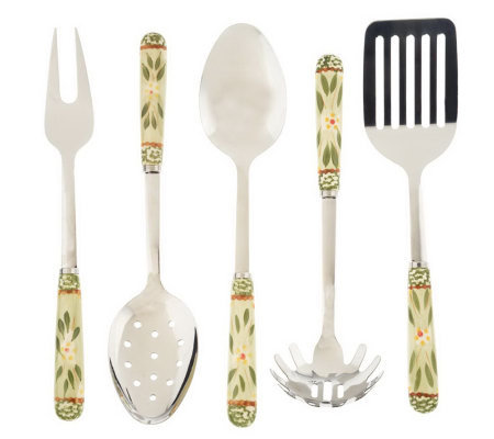 Temp-tations Old World 5-piece Stainless Steel Utensil Set