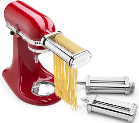 Three Piece Pasta Roller Cutter Attachment Set Kitchen Aid