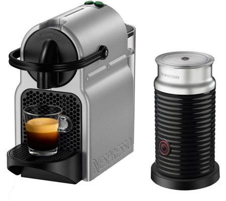 nespresso inissia espresso machine w milk frother by delongh. Black Bedroom Furniture Sets. Home Design Ideas
