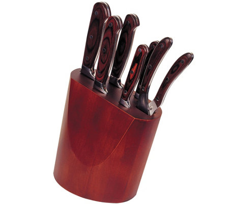 BergHOFF Pakka Wood 7-Piece Knife Block