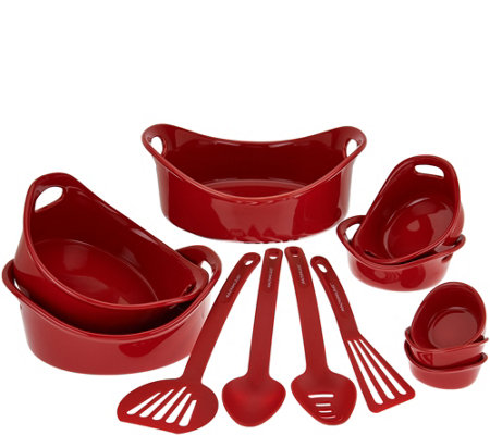 Rachael Ray Bubble & Brown 12-piece Round Bakeware Set
