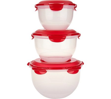 Lock & Lock 3 piece Nesting Tulip Bowl Set