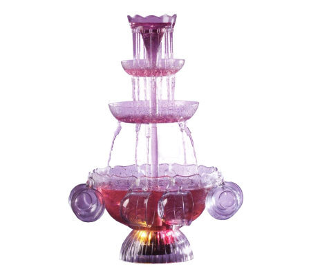 Nostalgia Electrics LPF-210 Lighted Fountain Be verage Server