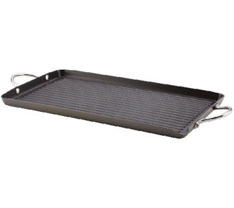 "Rachael Ray Hard-Anodized II 18"" x 10"" Double Burner Grill - K304466"