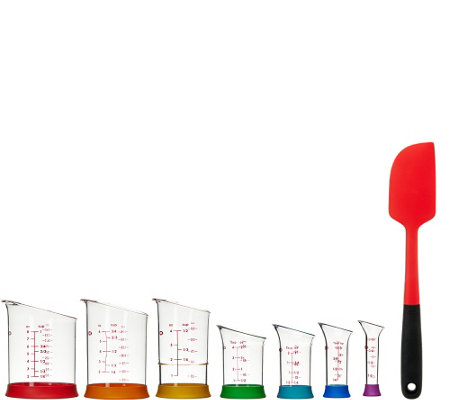 OXO Good Grips 7 piece Measuring Beaker Set & Spatula