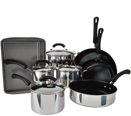 Cook's Essentials 13-piece Stainless Steel Cookware Set