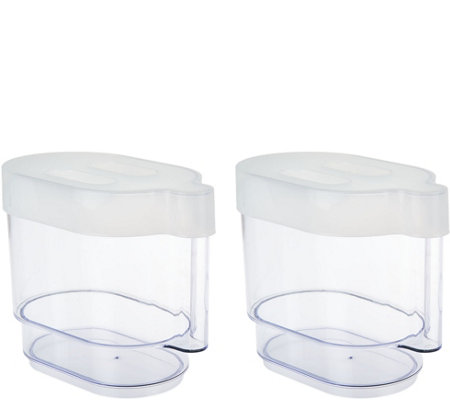 Cook's Essentials Set of 2 Mandoline Containers