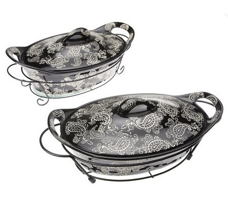 Temp-tations Vintage Paisley 8-piece Oval Oven-to-Table Set