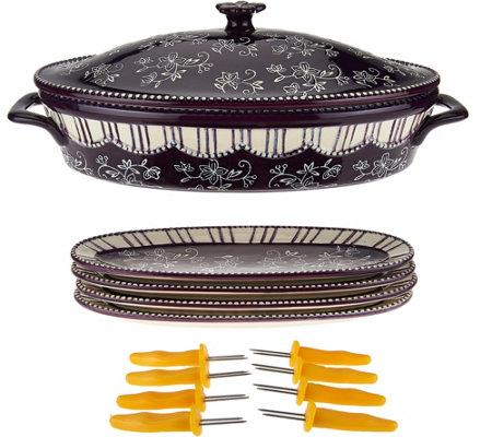 Temp-tations Floral Lace Corn Cob Baker Set
