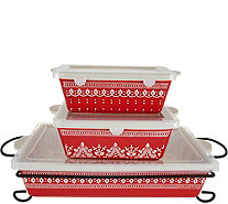Cook's Essentials Savannah 4 pc. Bakeware Set with Lids - K45567