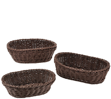 Lock & Lock Set of 3 Oval Nestable Baskets