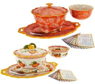 Temp-tations 6-pc Serving Platter & Pedestal Bowl Set