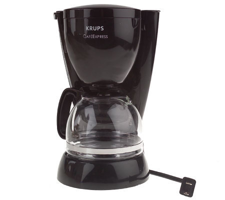 krups cafe express 4 cup coffee maker w permanentfilter. Black Bedroom Furniture Sets. Home Design Ideas