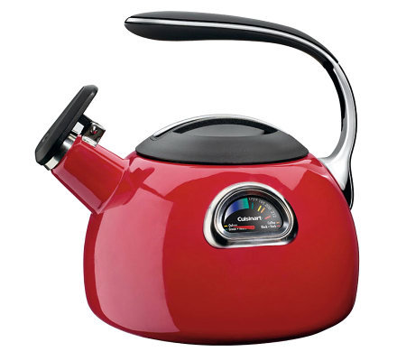 Cuisinart PerfecTemp 3-Qt Teakettle - Red Porcelain Enamel