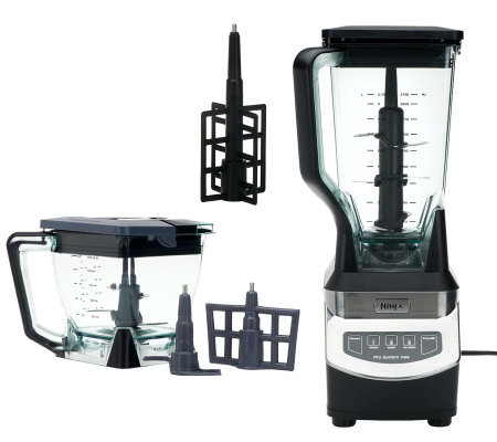 Ninja 1100 Watt Kitchen System 72 oz Blender w/ 40 oz Bowl & Attachments