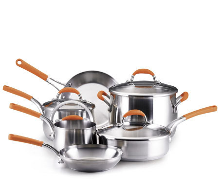 Rachael Ray 10- Piece Stainless Steel CookwareSet