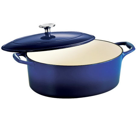 Tramontina Gourmet Enameled Cast-Iron 5.5 qt Oval Dutch Oven